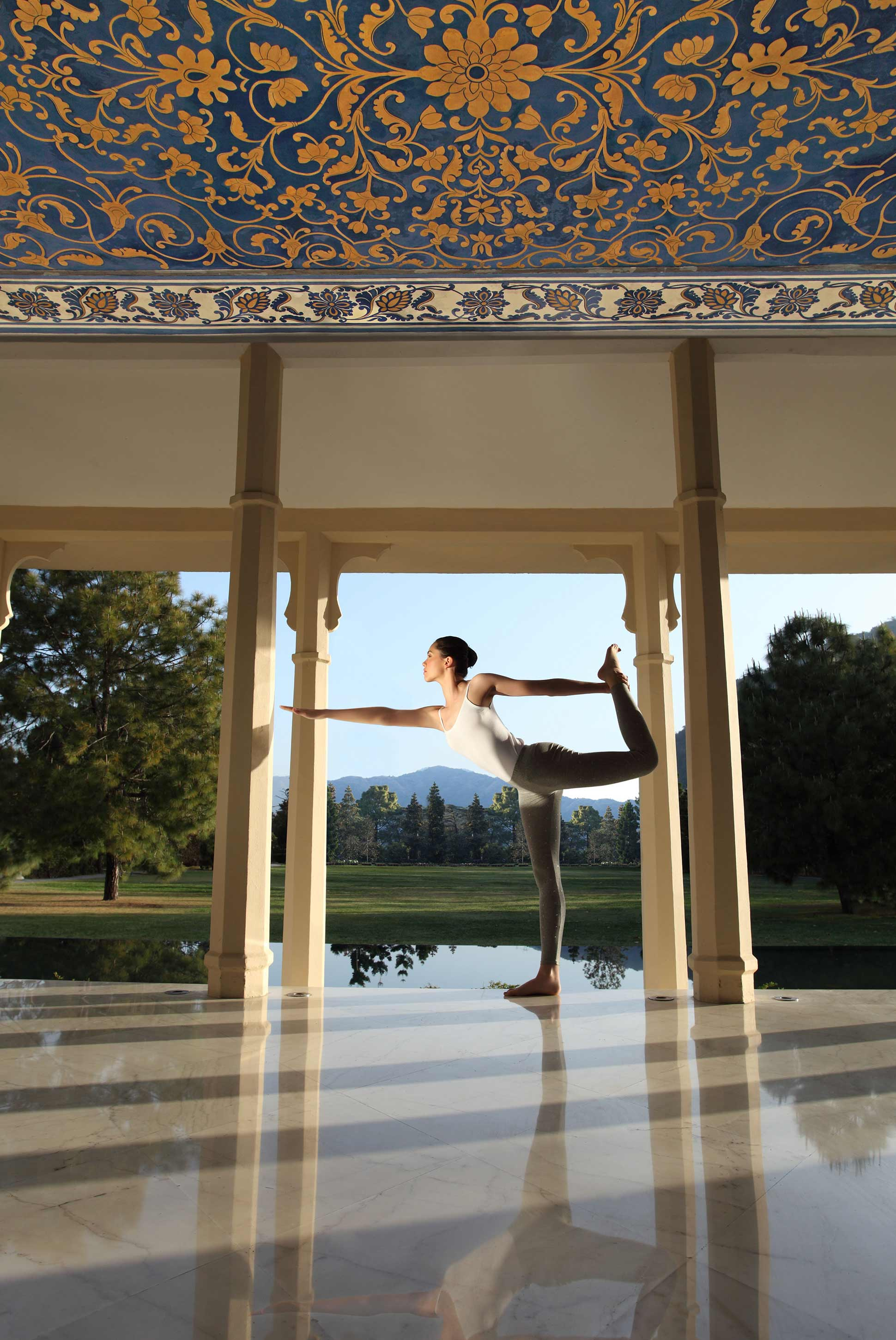 hotel yoga wellness Ananda in the Himalayas 5 stars Uttarakhand India