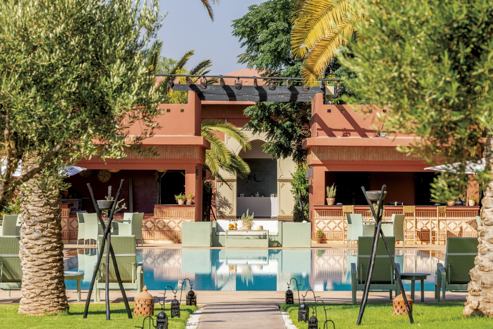 Luxury boutique hotel 5 stars Palmeraie Marrakesh Morocco Domaine des Remparts - swimming pool