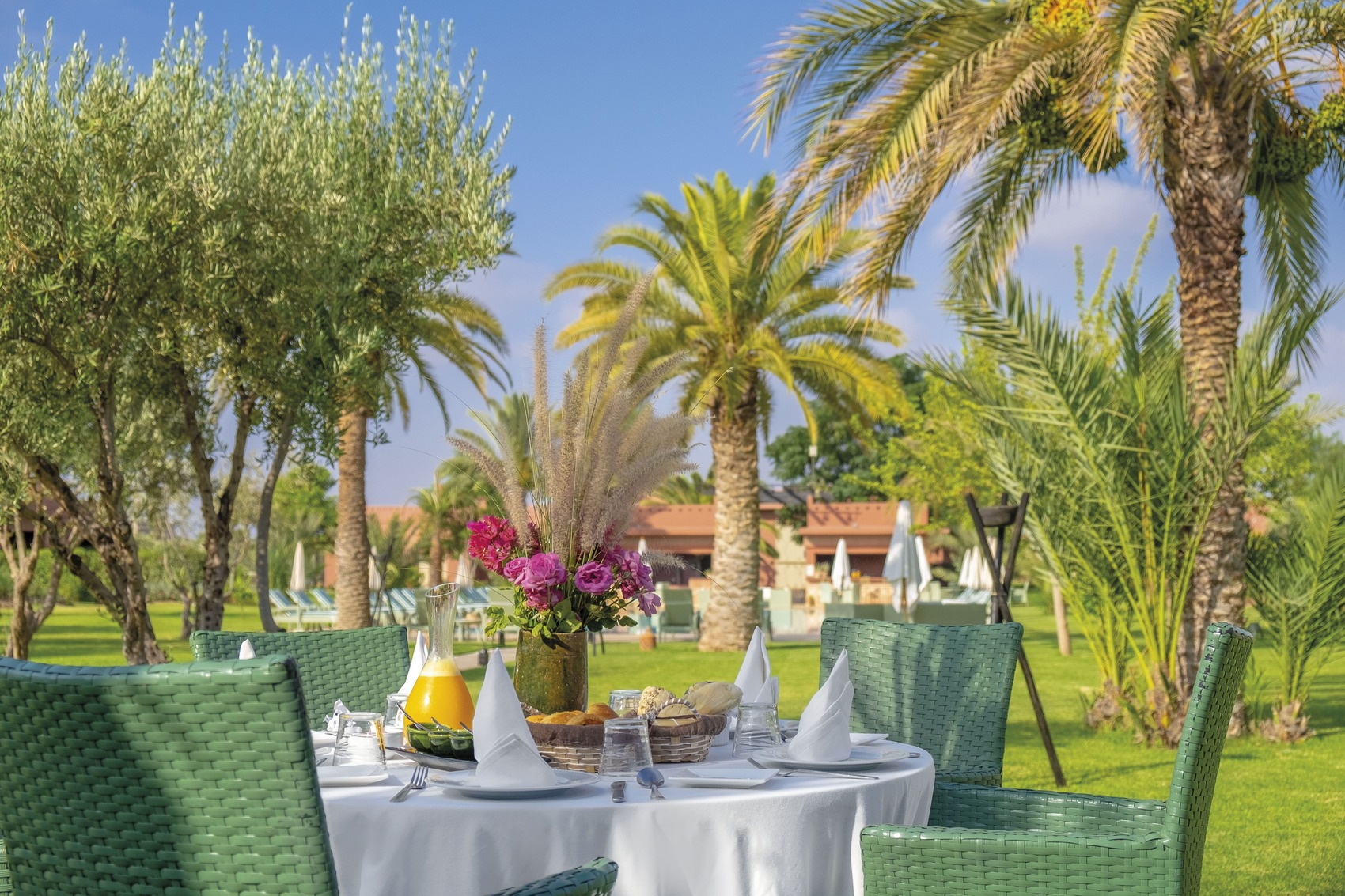 Luxury boutique hotel 5 stars Palmeraie Marrakesh Morocco Domaine des Remparts - garden restaurant