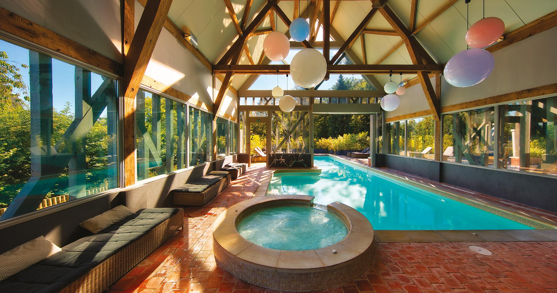 Charming property  La Licorne Hôtel & Spa 4 star Rouen France indoor swimming pool