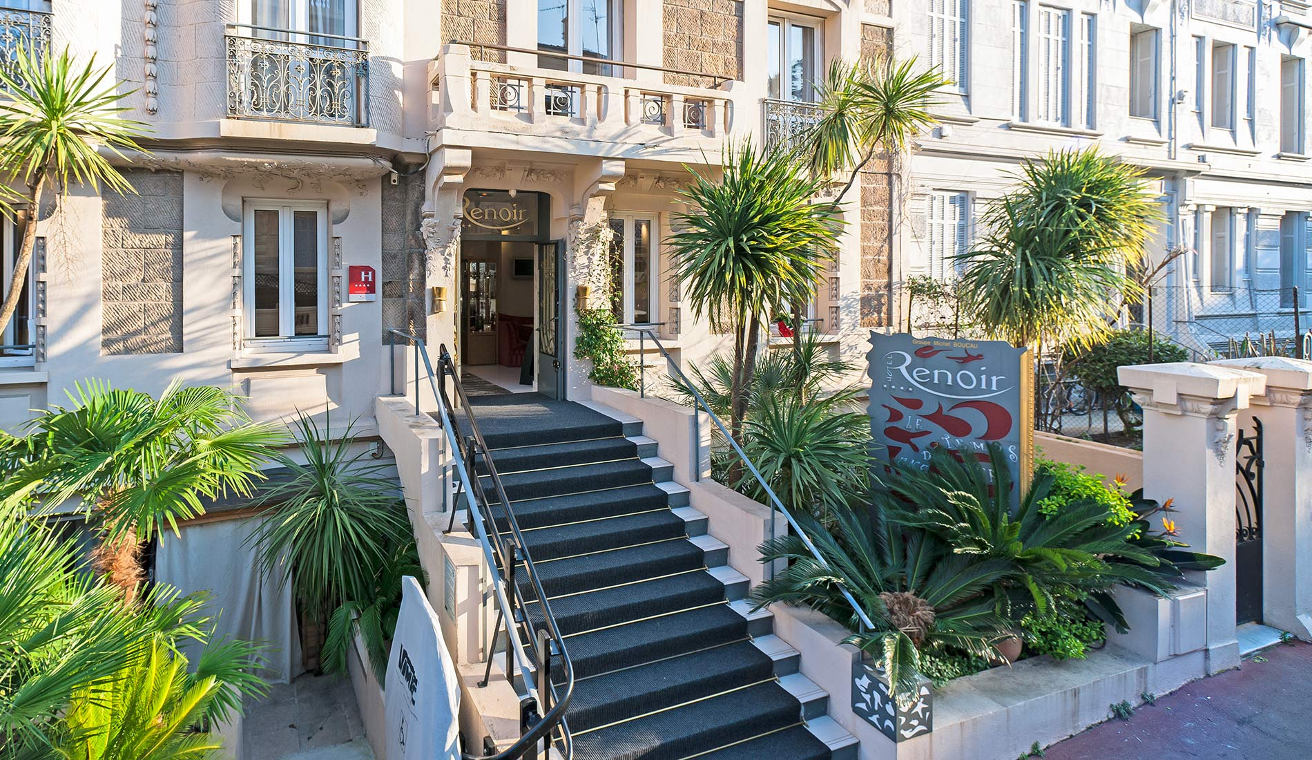 Charming property Hotel Renoir Cannes France 4 star front view entrance