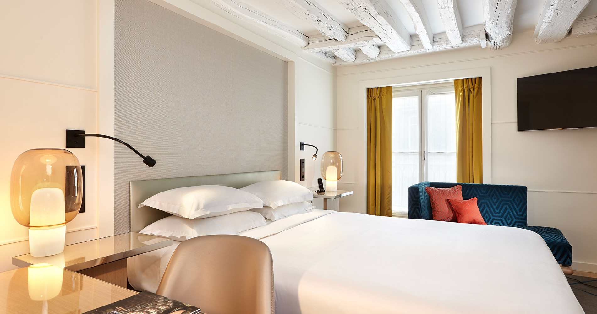 Charming property hotel Opéra Richepanse 4 star Paris France bedroom