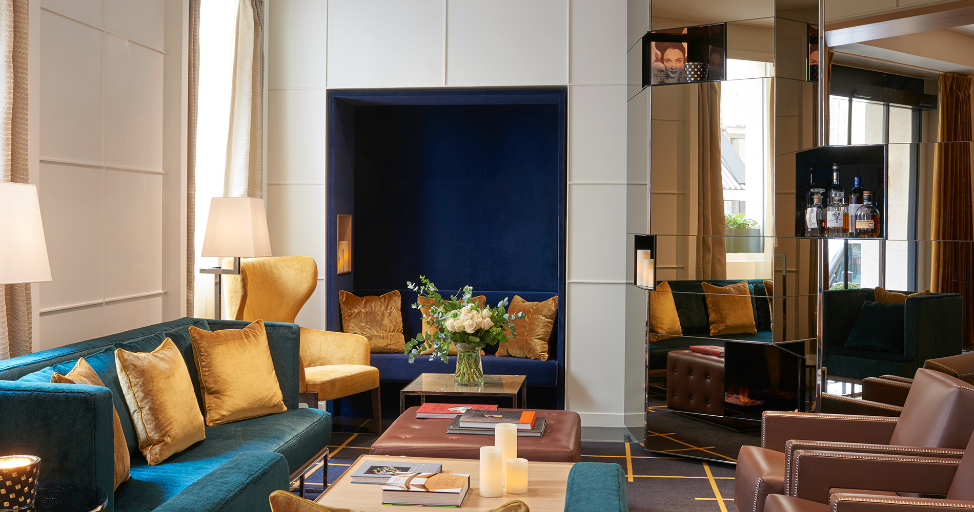 Charming property hotel Opéra Richepanse 4 star Paris France living room